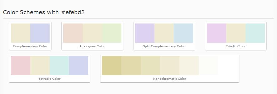 Design Decorating Color Chart